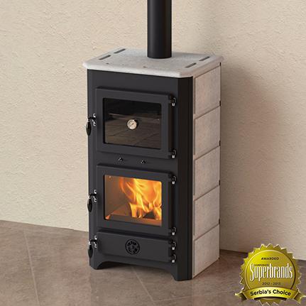 MBS Thermo Vulkan Plus Kalorifer Sistemli Kuzine Sobası