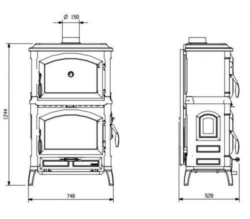 206-купить-камин-печь-духовка-la-nordica-isotta-forno-evo-днепр-харьков-полтава-украина-800×700