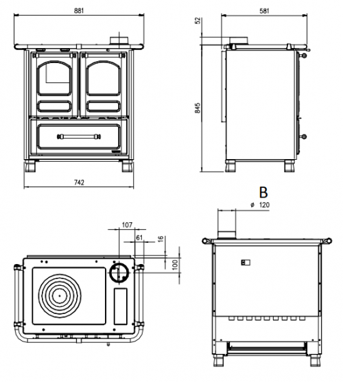cuisiniere-a-bois-family-3-5-65kw-fonte-emaillee-cappuccino—la-nordica-ref-7013003-p-image-1682814-grande